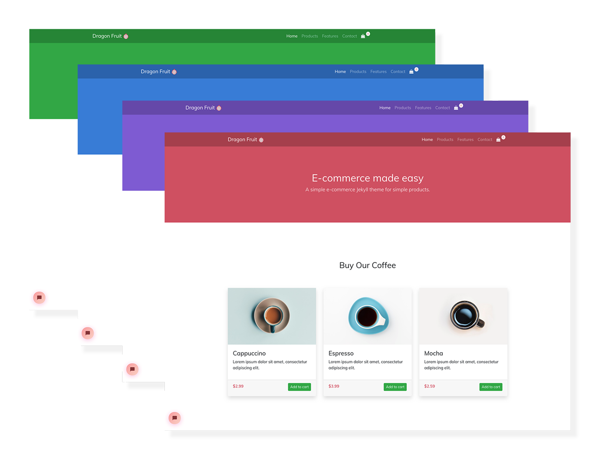 Dragon Fruit E-commerce Jekyll Theme